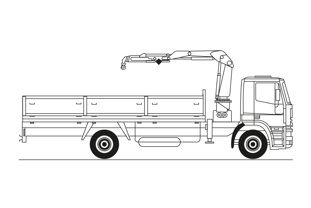 18 Tm Camión con grúa