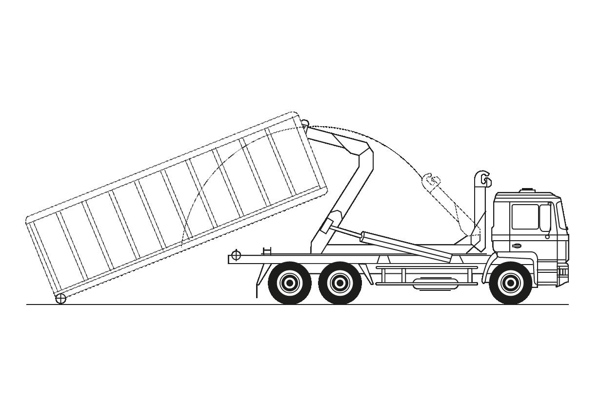 18 Tm. Porta-contenedores gancho multilift
